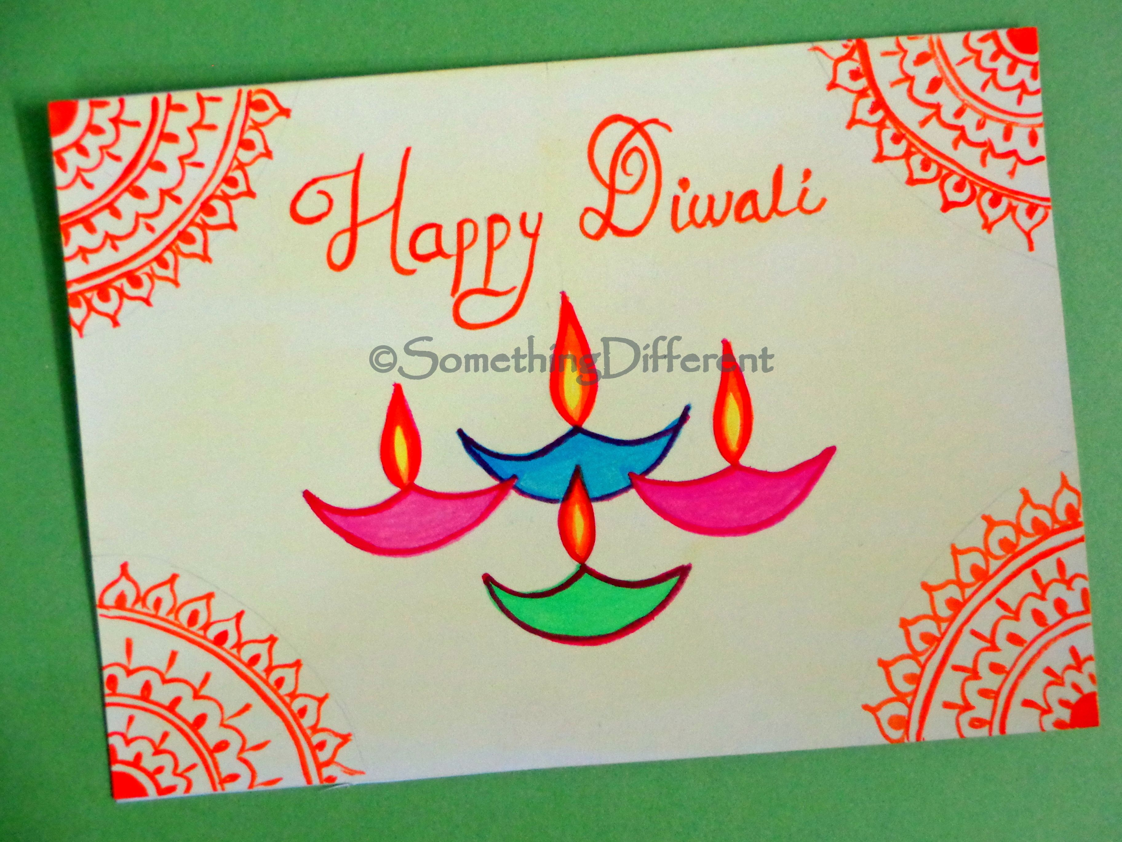 Diwali Greeting Card With Images Diwali Greeting Cards