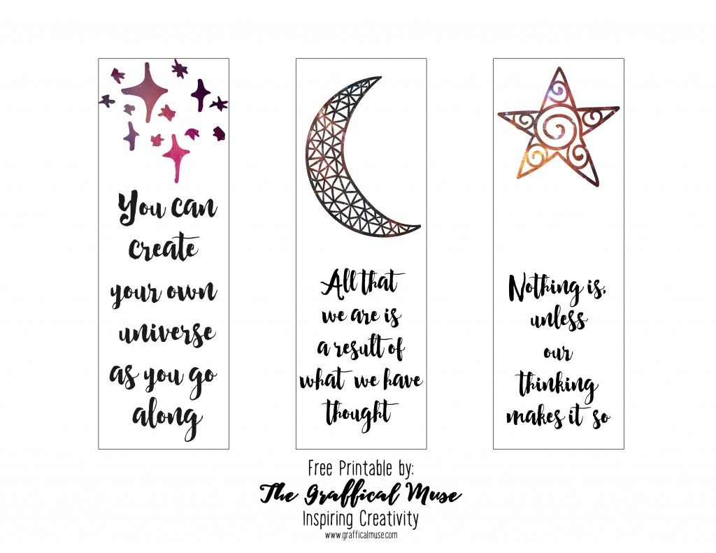Free Printable Law Of Attraction Bookmarks Hello Thanks