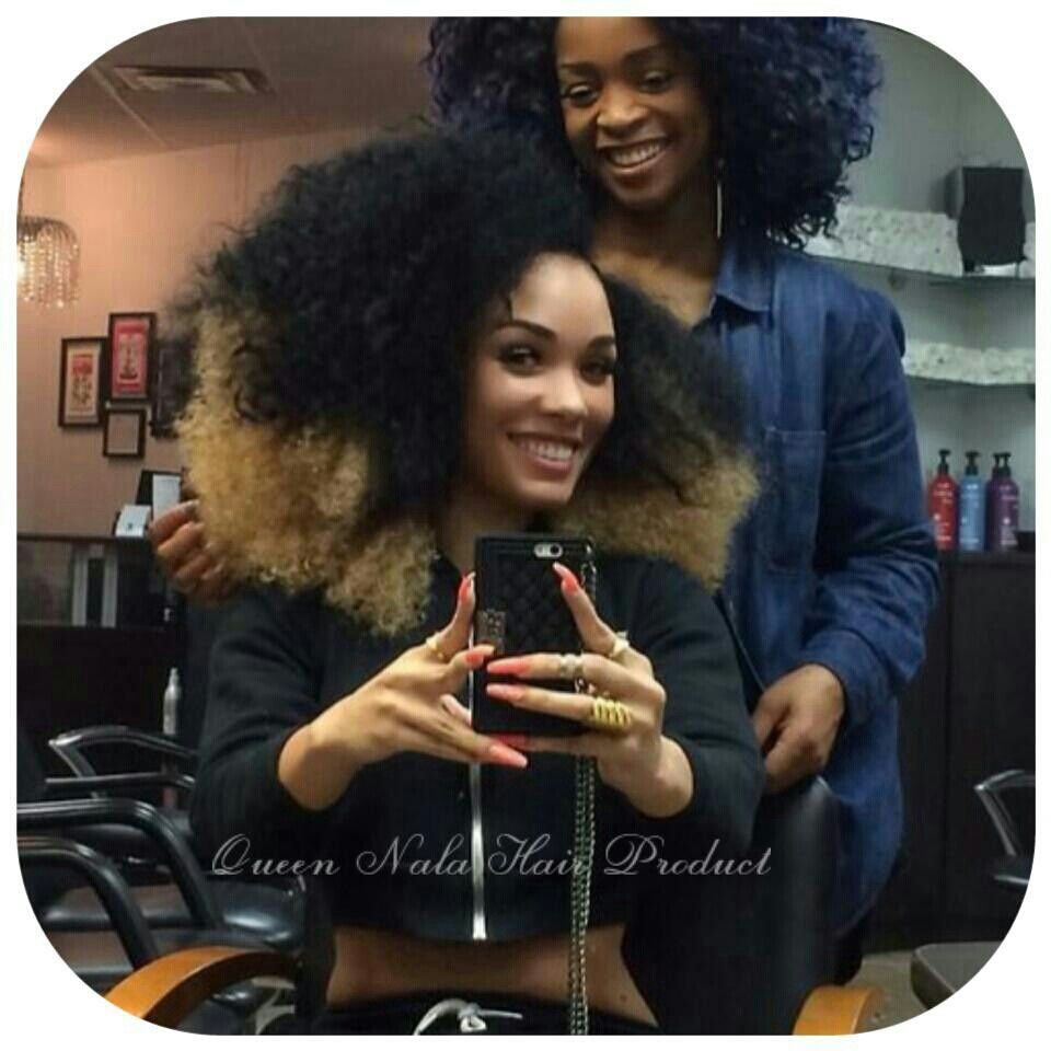 """Queen Nala Hair Product They Are Racking Brazilian Kinky Curly  Length:16""""18""""20"""" Have Dyed Ombre Color This Time Have 44% Discount So Loveeeeeee  Shared By Honey @Anadell Thompson And Anita Leaks  #virginhair #Queennalahair #humanhair #Brazilianhair"""