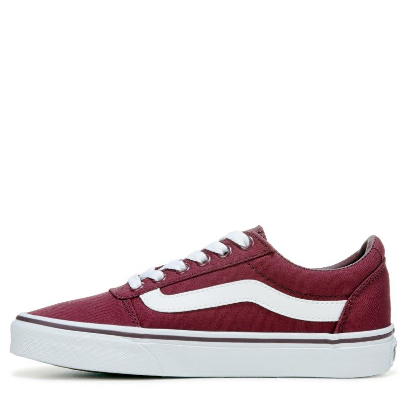 92a6f2fd307 Vans Women s Ward Low Top Skate Shoes (Burgundy White)