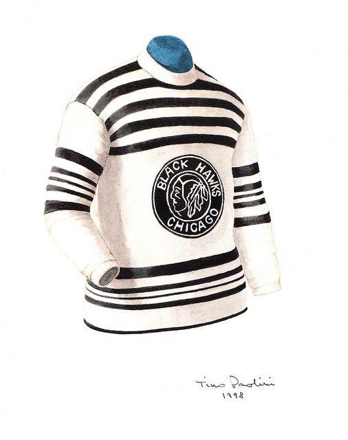 buy online 4dd55 b4822 Chicago Blackhawks 1926-27 jersey artwork | Clothes I need ...
