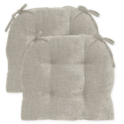 Jordan Oversized Chair Pad In Taupe Set Of 2