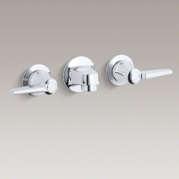 Triton Wall Mounted Bathroom Faucet With Drain Assembly
