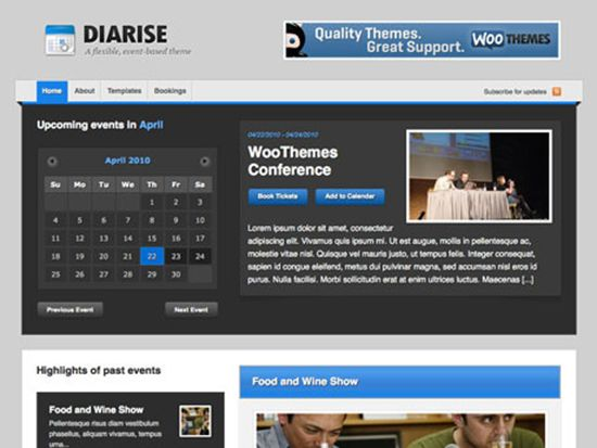 10+ Temas de WordPress con Calendario Ideales para Eventos | Blog ...