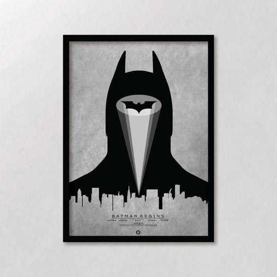 Batman Begins Inspired Print / Dark Knight / Alternative