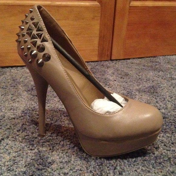 141263cd91d9 Pumps. Nude PumpsCharlotte Russe ShoesMetalPlatformsStudsBeige HeelsSpikesStud  EarringStilettos