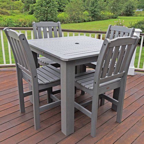 Amelia Square 4 Person 62 5 Long Bar Height Dining Set Patio Dining Set Counter Height Dining Sets Square Dining Tables