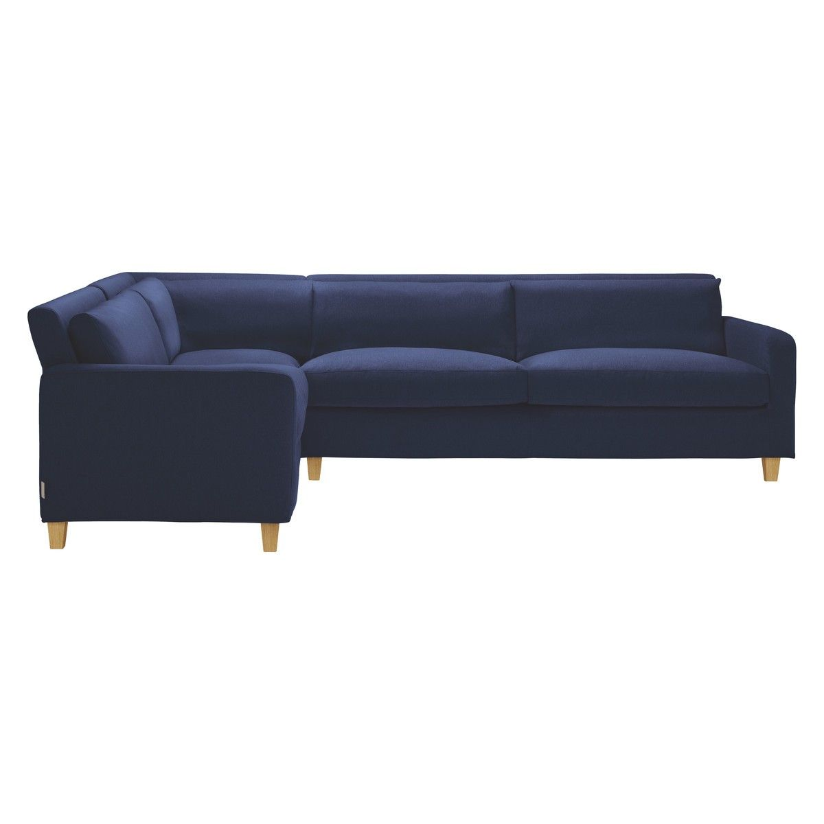 Chester Dark Blue Fabric Right Arm Corner Sofa Corner Sofa Upholstered Couch Blue Furniture