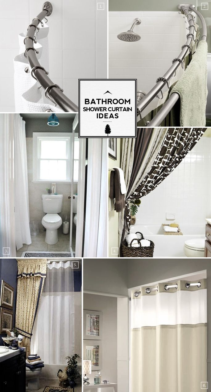 Bathroom shower curtain ideas from space saving to decorative