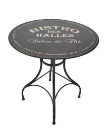 Table ronde Bistro noire | meubles design | Table metal, Table ...