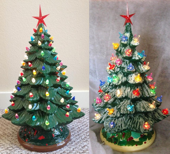 Unpainted Ceramic Bisque Christmas Tree Kit Diy 20 Tall W Base 14 Unpainted Ready To Paint Tree Bulbs Star Light Kit Included Christmas Tree Kit Christmas Tree Ceramic Christmas Trees