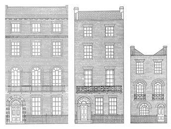 Georgian Architectural Drawings Victorian Terrace House Regency