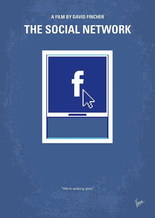 No779 My The Social Network Minimal Movie Poster в 2019 г.