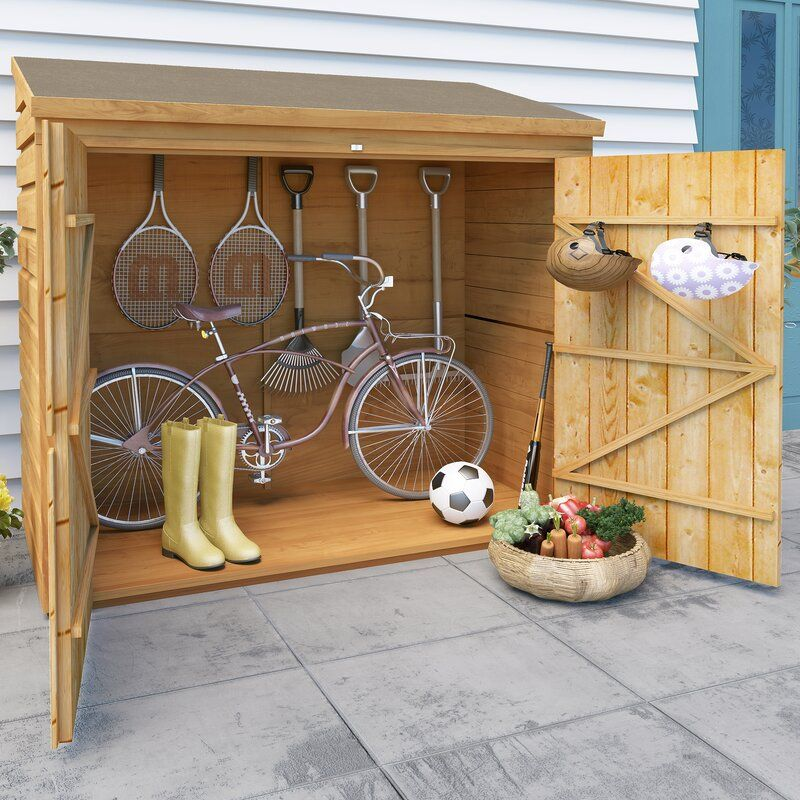 Burr 6 Ft W X 2 5 Ft D Bike Shed In 2020 Bike Shed Wooden