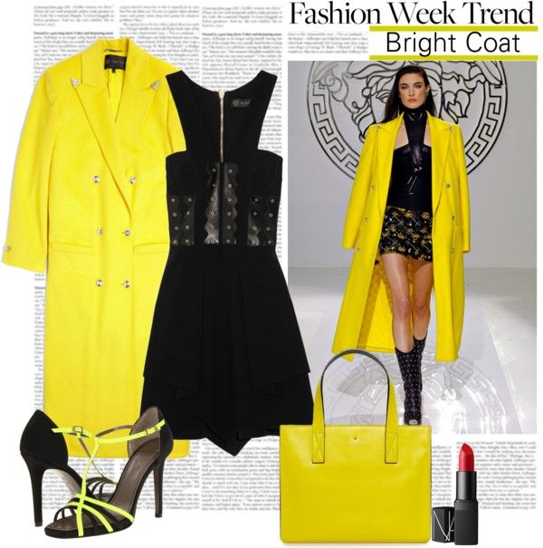 """""""Fashion Week Tren: Bright Coats for All"""" by alaria ❤ liked on Polyvore"""