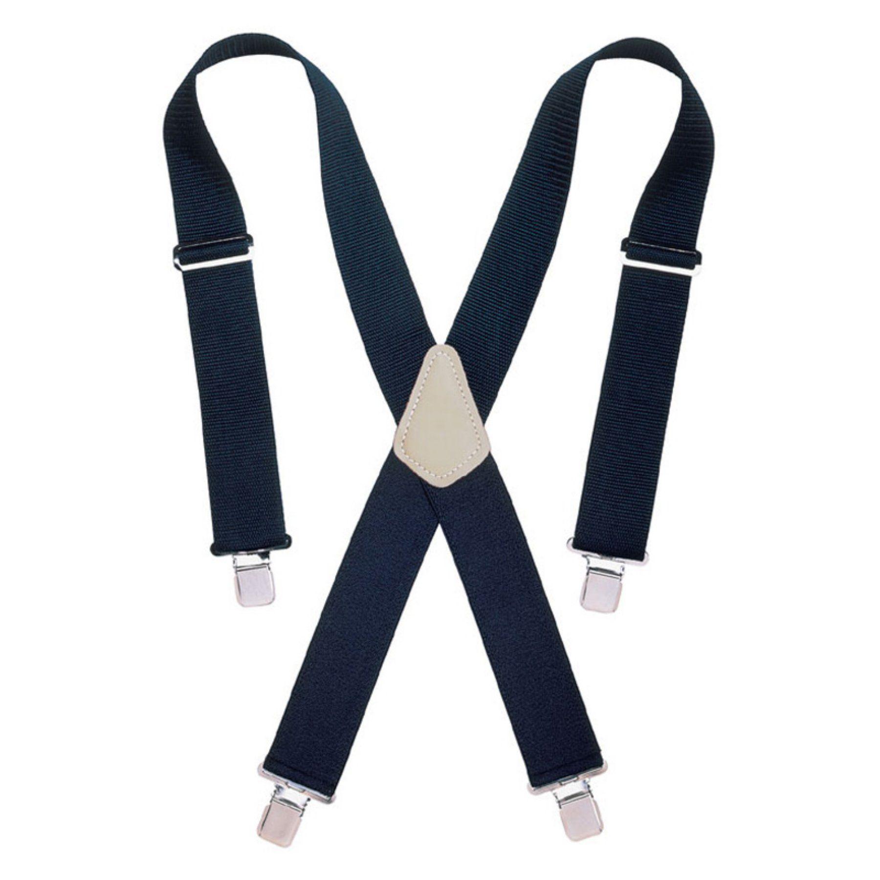 Custom Leathercraft 2 in. Wide Black Work Suspenders - 2754-0087