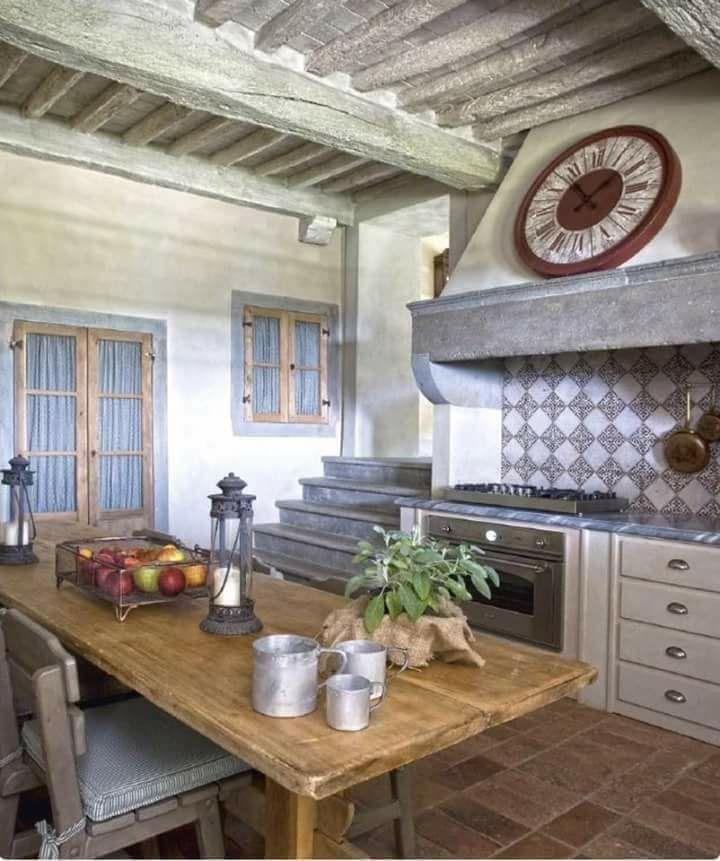 Pin de LILI en Para casa finca | Pinterest | Mesa rústica, Cocinas y ...