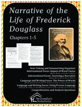 an analysis of literary devices in the narrative of the life of frederick douglass an american slave Douglass, an american slave (1845) is considered one of the most important and influential writings of the abolitionist movement of the early 19th the book details the events of douglass's life, documenting the cruel brutality and injustice of a slave's life as well as the immorality of slavery itself.