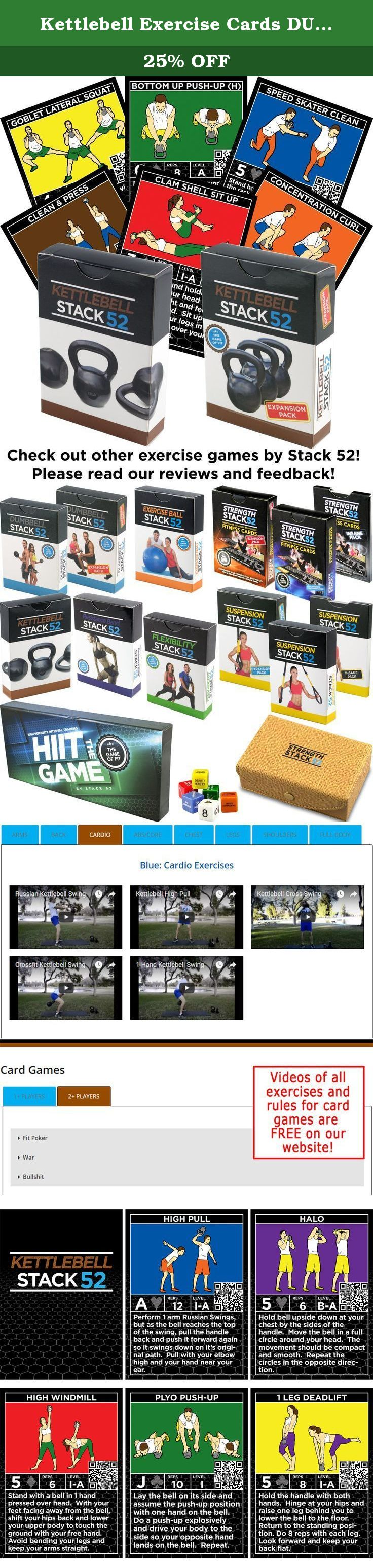 Kettlebell Exercise Cards DUO Pack by Stack 52. Kettlebell