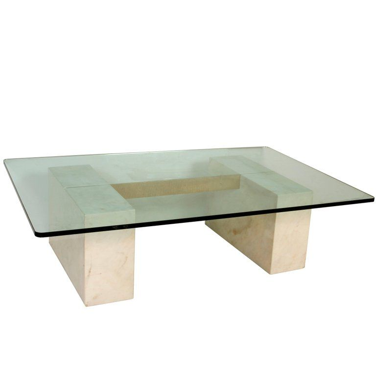Modern Stone Gl And Br Coffee Table In 2019