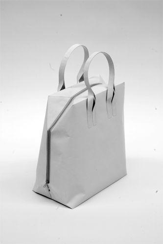 Modern bag. White minimal fashion style