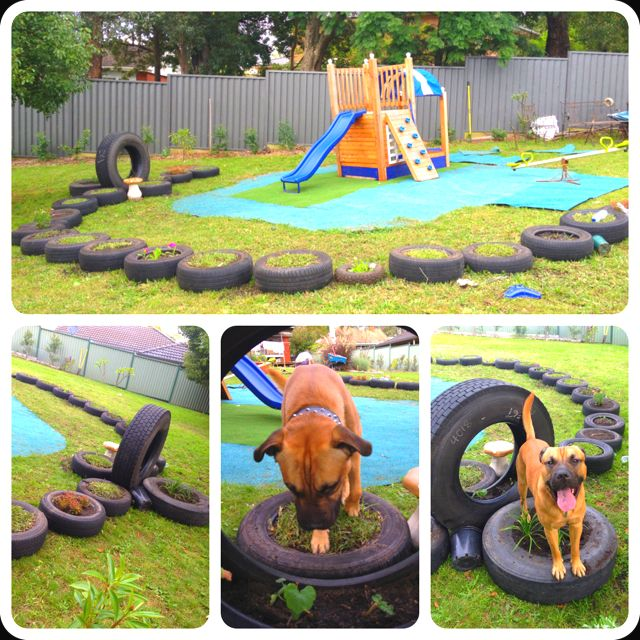 Recycled backyard playground for when the kiddies come to ...