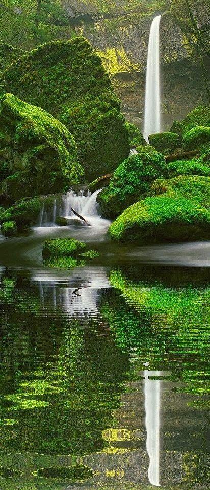 Breathtaking Elowah Falls, Oregon                                                                                                                                                     More