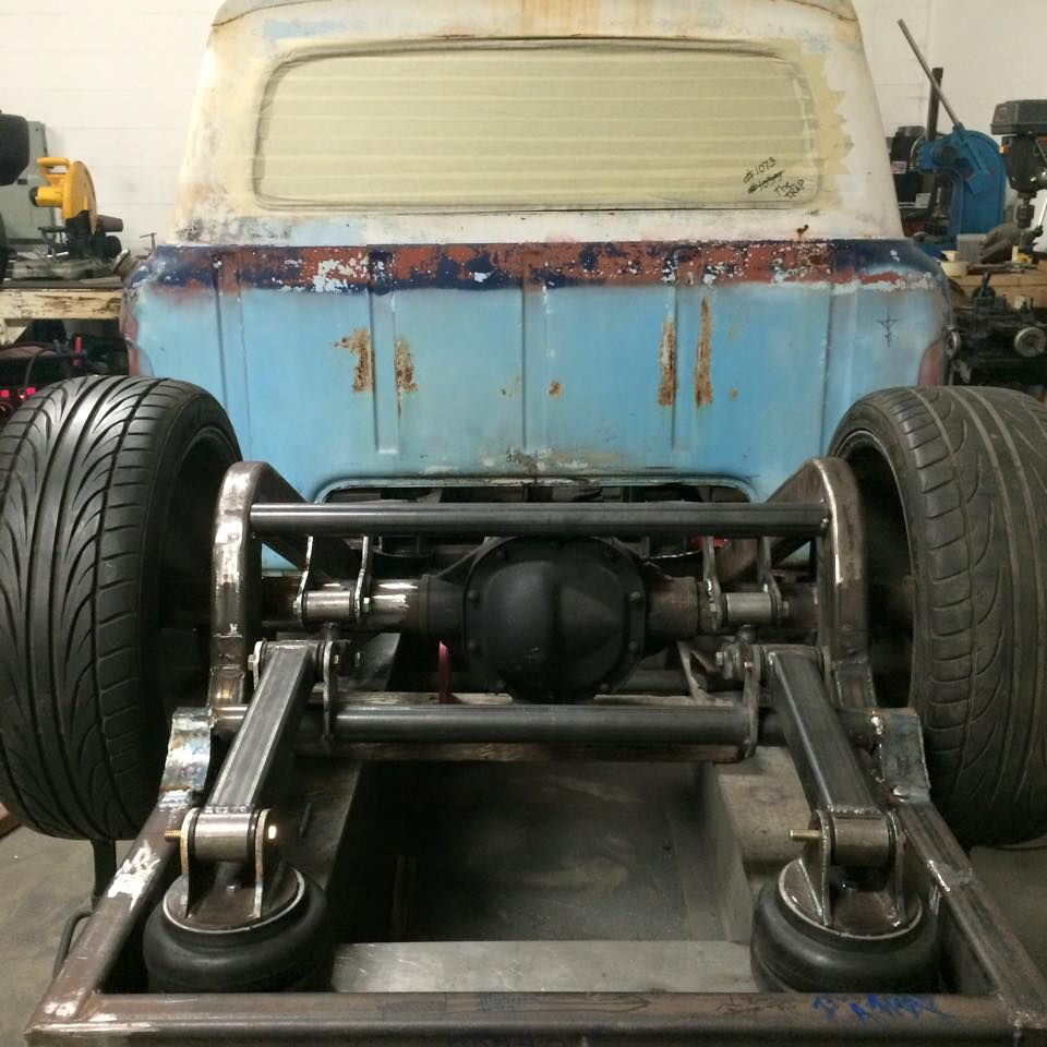 medium resolution of ford truck with a really amazing cantilever air bag rear suspension and sculpted c notch pic 1