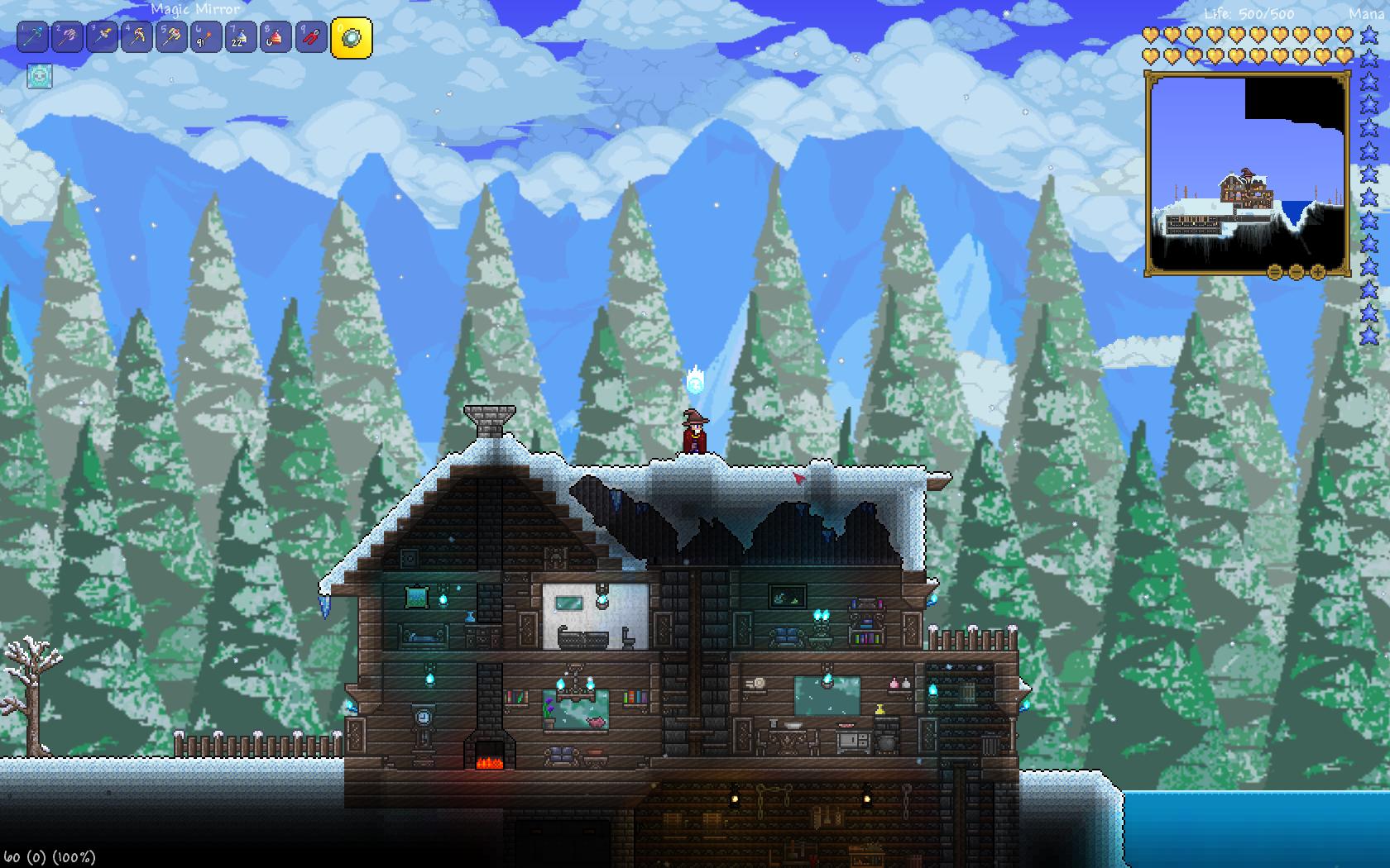 snow covered roof Terrarium, Creature design, Snow