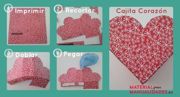 Como hacer una cajita con forma de corazon