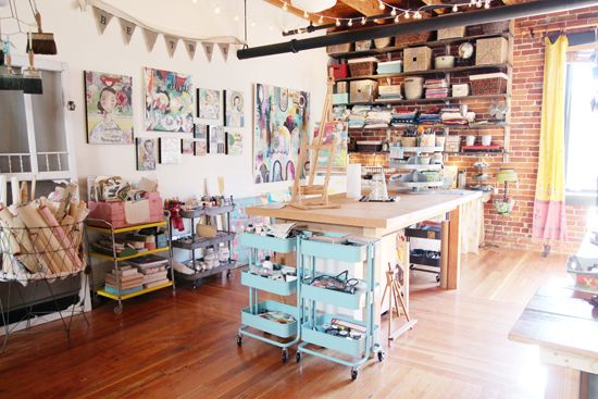 Am nager un atelier d artiste petit budget atelier pinterest je vous atelier et artistes - Amenager un garage en atelier ...