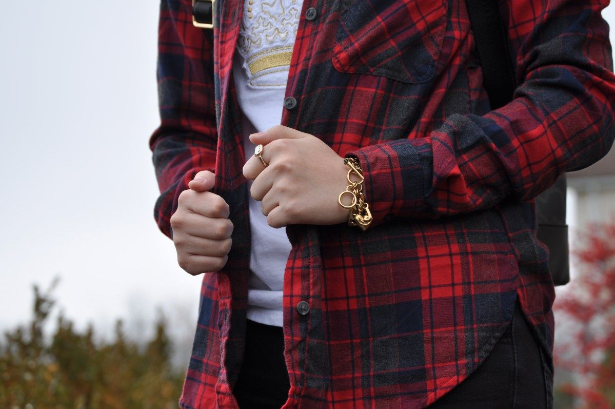 Winter flannel look inspiration. Check out more @ http://madeinmauve.com