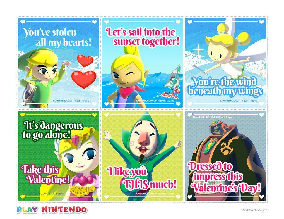 Zelda Wind Waker Karte.Nintendo Valentines Legend Of Zelda Windwaker Valentines For