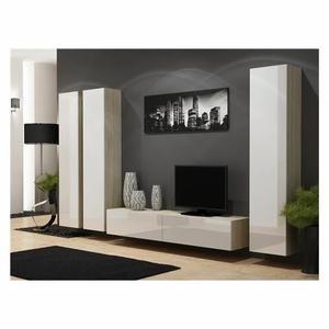 meuble tv ensemble meuble tv design suspendu kiko bois et bl ... - Meuble Tv Design Suspendu