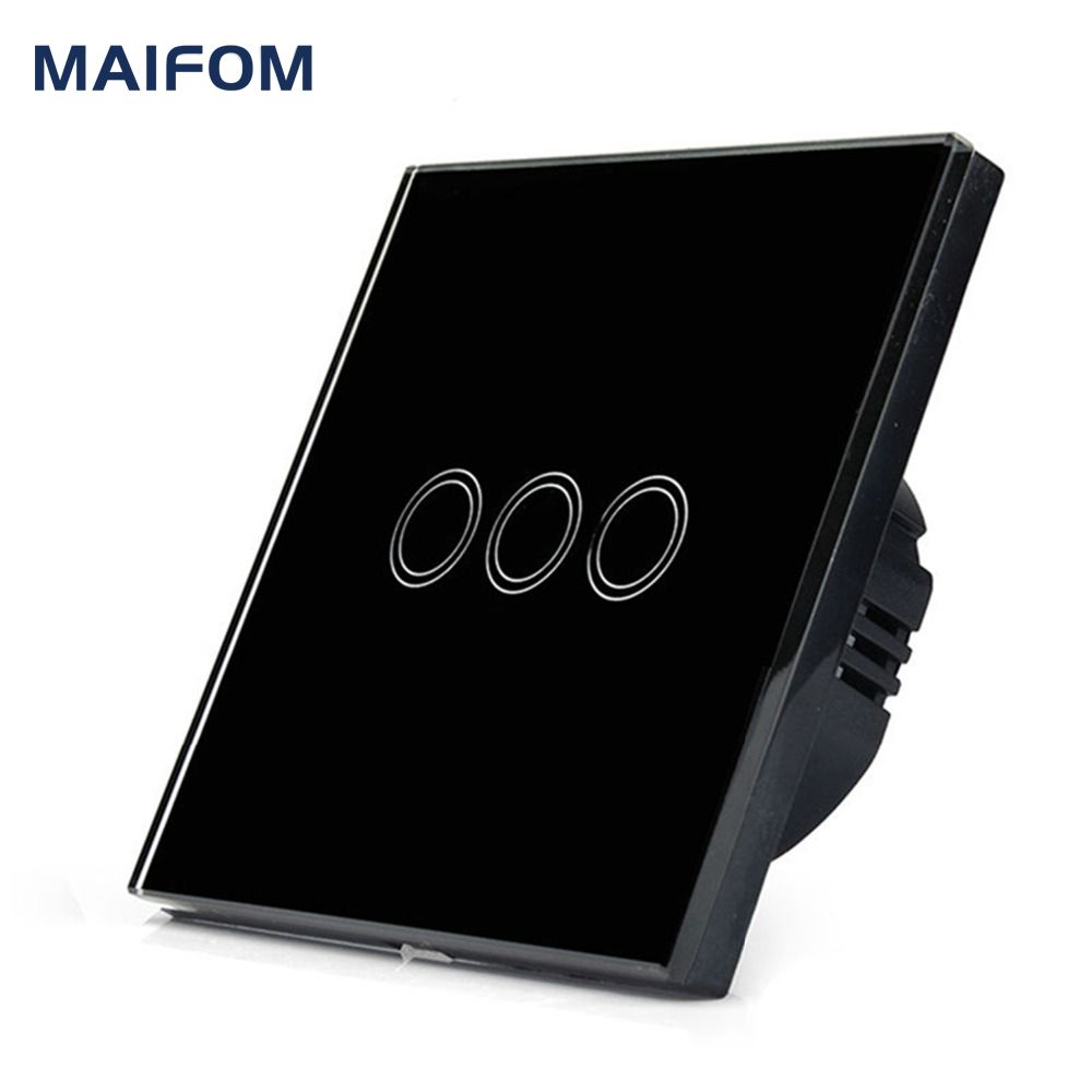 Smart Home Eu Uk Wall Switch Maifom Led Touch Light 110 240v 3 Gang