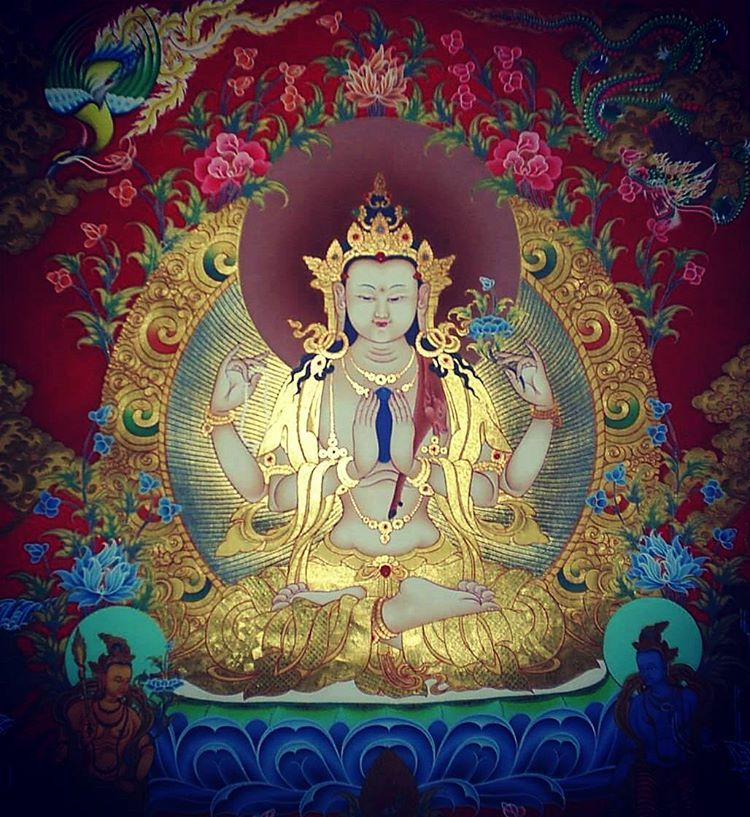Chenrezi May All The Beings Be Free From Suffering Om Mani Peme