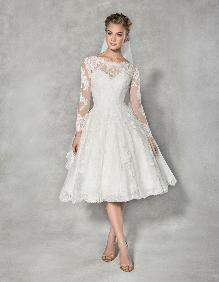 Arlington Lace Midi Wedding Dress
