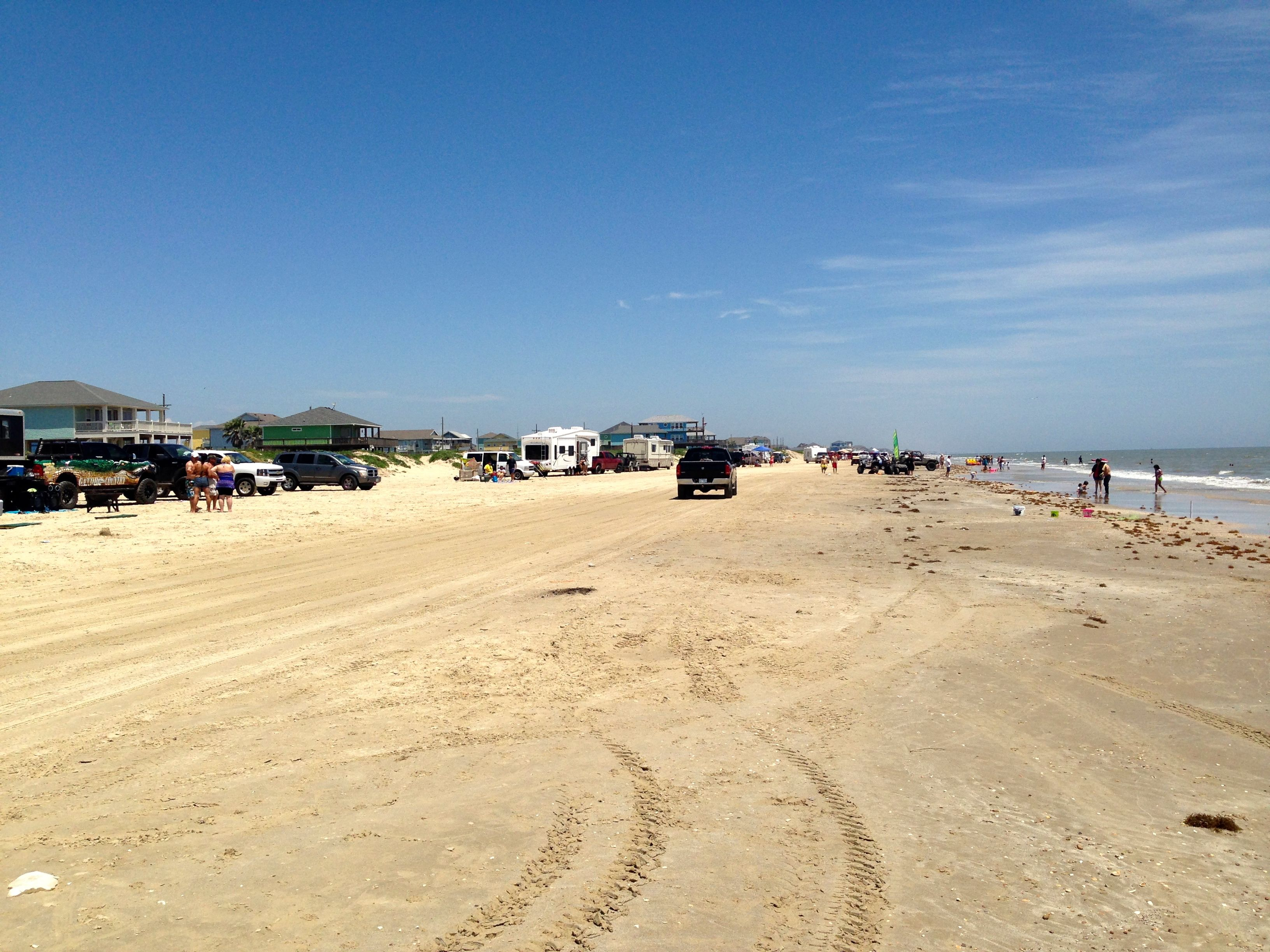 Wide Open Beaches On Bolivar Peninsula Texas And Crystal Beach Drive Relax While Visiting The Area Vacation