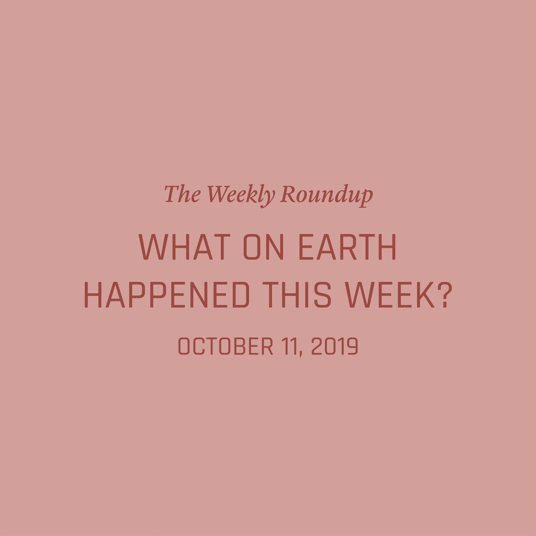 Pin On What On Earth Happened This Week