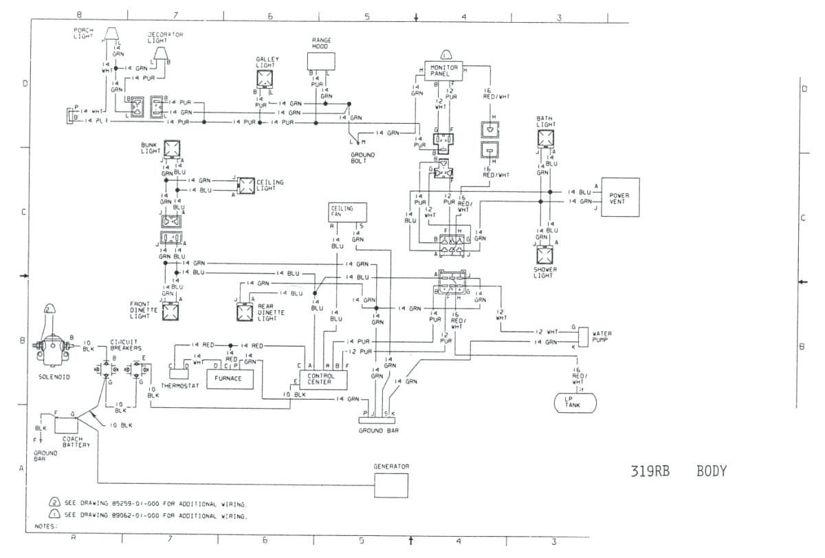Wiring Diagram For Generator On Old Winnebago