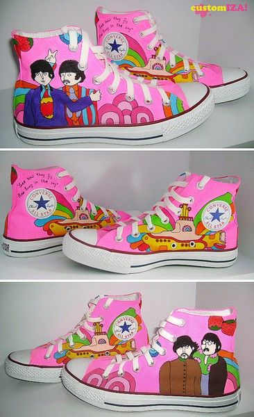 Yellow Submarine Pink Chuck Taylors!