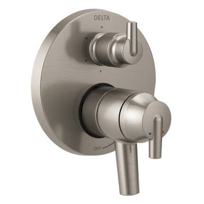 Delta Trinsic Pressure Balance Monitor 17t Series Valve Trim With Double Handle Delta Trinsic Delta Faucets Shower Systems