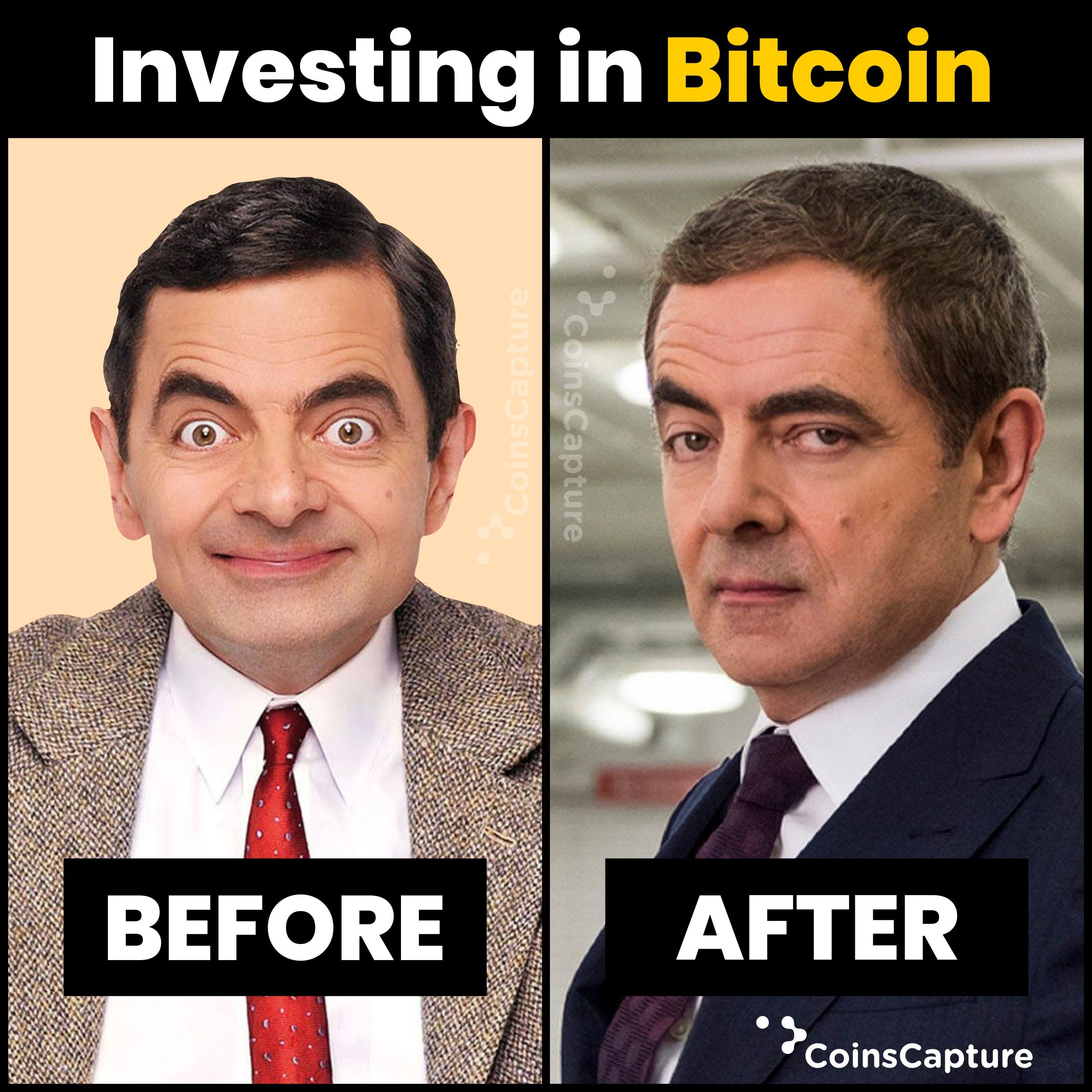 Bitcoin Investors Before V S After In 2021 Credit Card Infographic Personal Finance Organization Smart Money