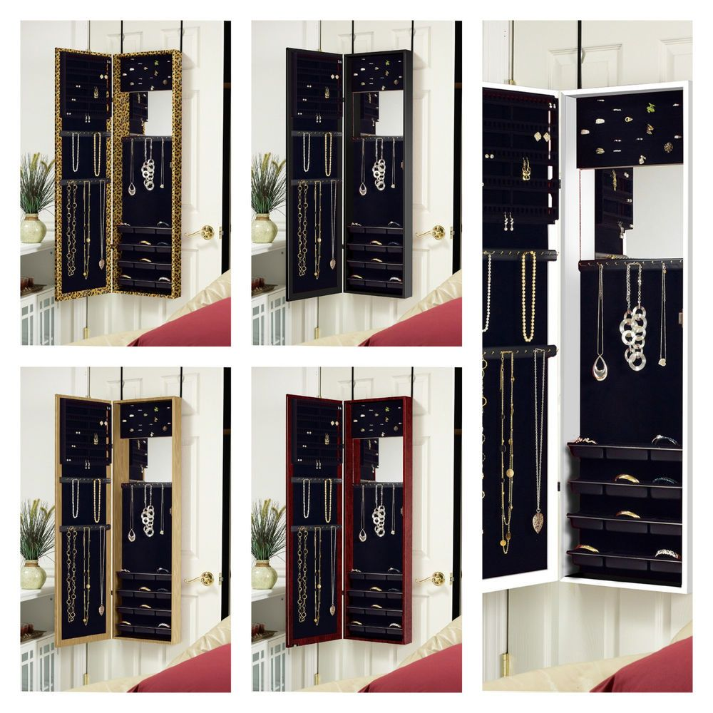 The Over door Jewelry Armoire is the perfect way to organizer all