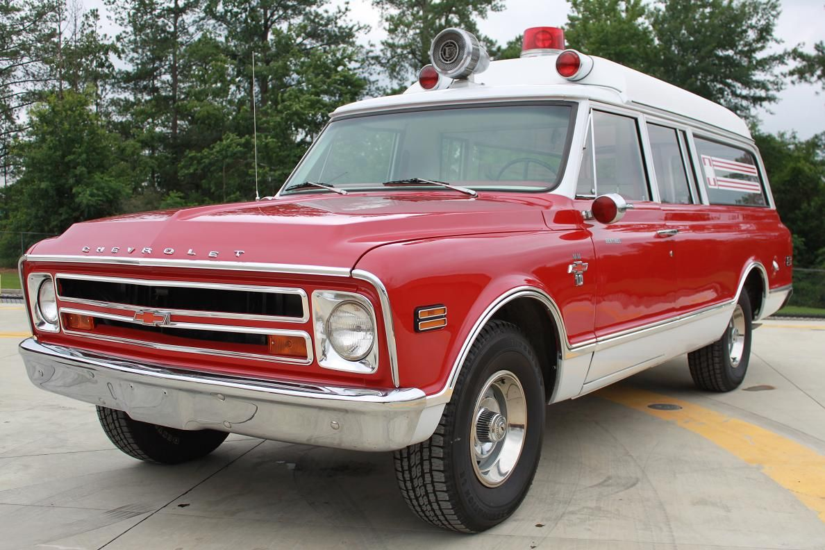 Vintage Good Old Fashioned Reliable Chevy Trucks Emergency Vehicles Ambulance Rescue Vehicles