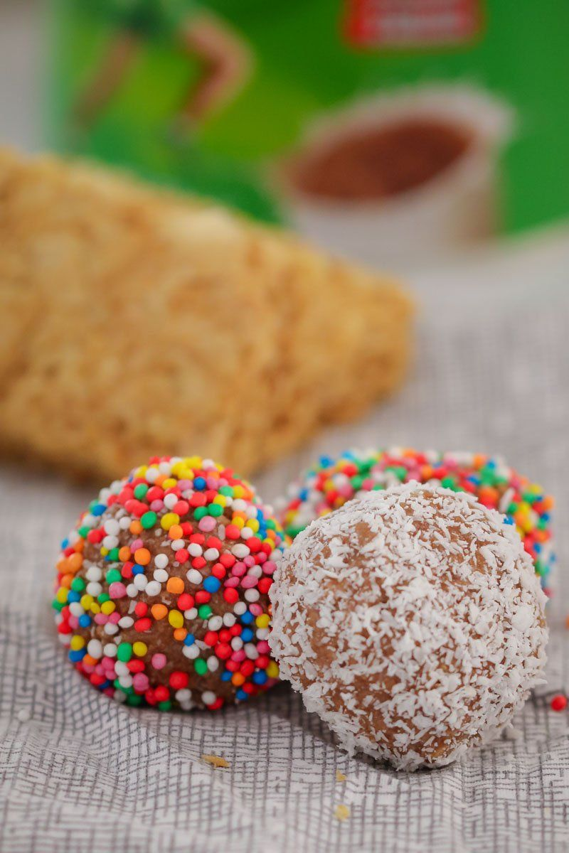 4 Ingredient Milo Weet Bix Balls Recipe Weet Bix 4 Ingredients Lunch Box Recipes