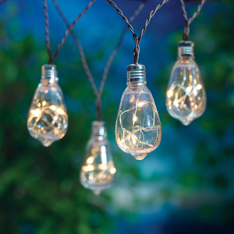 Hometrends Battery Powered Led Edison Style String Lights