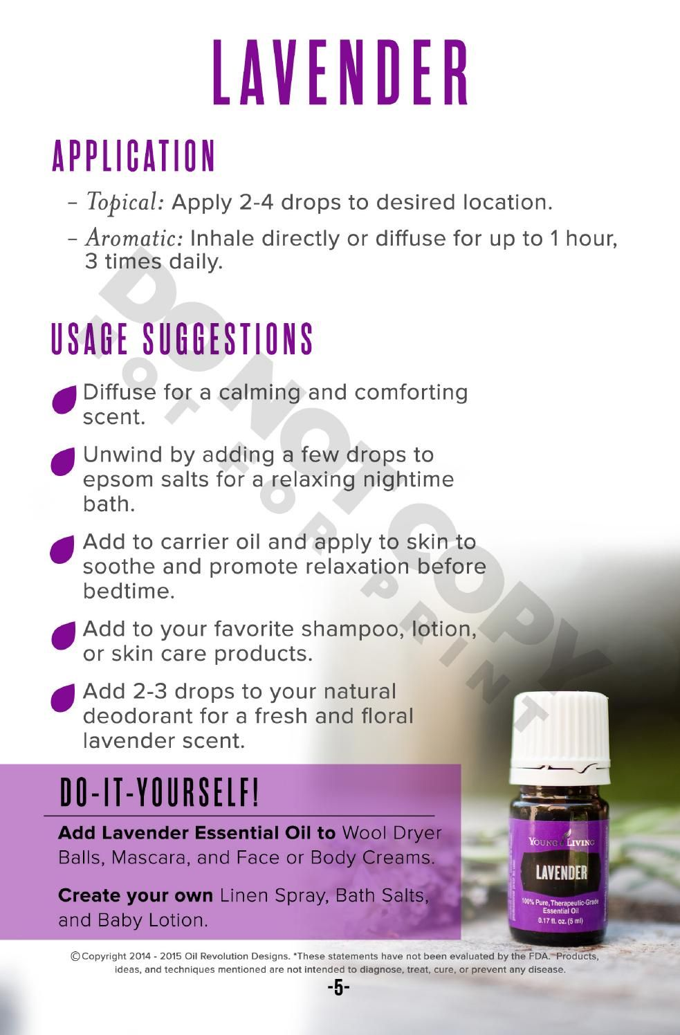 Oily Families Essential Oil Starter Guide Health