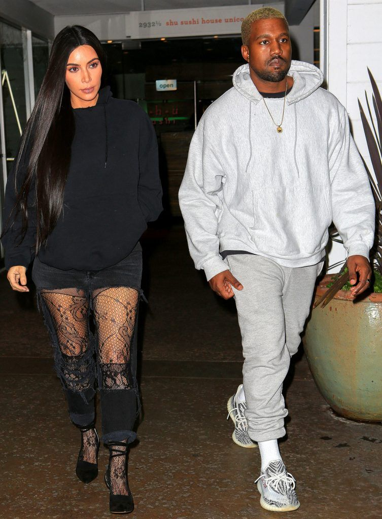 e2517ae033466 Kanye West Leaves In Maybach Wearing New YEEZY s   Shares Family Album  Photos