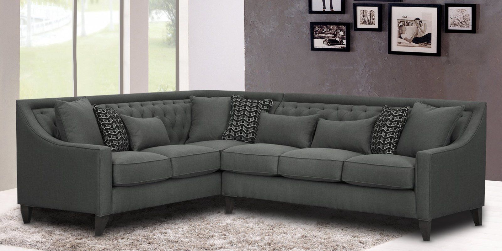 Nirvana Lhs Sofa In Grey Colour Furniture L Shaped Sofa Sectional Sofa